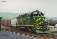 The Green Mountain Railroad is a freight and tourist line in upstate Vermont that uses former Rutland Railroad trackage. Learn more about the line here.