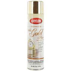 18K Gold 8 ounces Krylon Shimmer Metallic Spray Paint