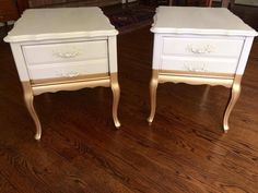 Living Furniture, Furniture Decor, Painted Furniture, Unfinished Furniture, Recycled Furniture, Gold Dipped Furniture, French Provincial Table, Chalk Paint Kitchen Cabinets, Painted End Tables