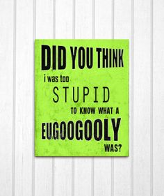 Zoolander Eulogy Quote: 8x10 Print $12.99 Love I can hang proof of Zoolander's awesomeness on my wall.