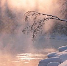 Talvinen joki Virrat photo by Jussi Helimäki