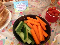 Peppa Pig Party Food - Miss Rabbit's Vegetable Patch