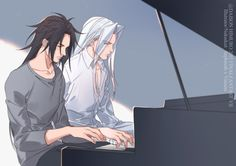Vincent and Sephiroth (Vincent looks more like Seph's dad than Hojo...just sayin)