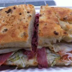 Corned Beef Sandwich With Sauerkraut, Russian Dressing And Swiss Cheese @ The Sentinel #sanfrancisco