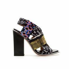 Zara Print Sandals, $129