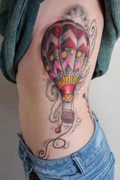Hot air balloon tattoo that I absolutely love!
