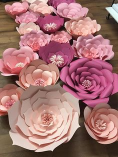 I cut and handmade these paper flowers. I would love to make them for your occasion wether it be a baby shower, a birthday, a babys nursery or a wedding - you name it! The flowers can match any theme perfectly and create such a beautiful atmosphere. Decorate with these flowers in any
