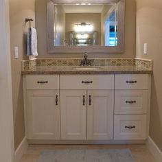 Jack and Jill bathroom featuring Amarillo Pearl granite countertops from Accent Interiors. Custom Countertops, Granite Countertops, Bathroom Inspiration, Design Inspiration, Steam Showers Bathroom, Bathrooms, Jack And Jill Bathroom, Kitchen And Bath Remodeling, Double Vanity