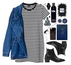 """DAY WEAR - BLK & BLU"" by pretty-basic ❤ liked on Polyvore featuring Monki, Alessi, Pieces, Sloane Stationery, ck Calvin Klein, Zero Gravity, The 2 Bandits, daywear and prettybasic"