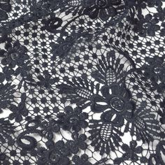 navy blue guipure lace fabric Fabric Board, Fabric Suppliers, Lace Fabric, Sewing Hacks, City Photo, Floral Design, Navy Blue, Pretty, Wedding
