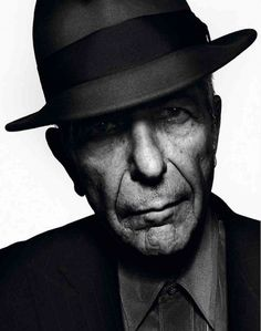 Leonard Cohen, poet, songwriter, singer. His voice sounds like velvet gravel....