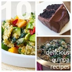 10 Good-for-You Quinoa Recipes  I'm going to try making the chocolate cake tonight!