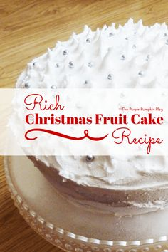 A tried and test recipe for a rich Christmas fruit cake that I've made several times over the years. A perfect recipe for Stir-up Sunday! Best Dessert Recipes, Fun Desserts, Cake Recipes, All Things Christmas, Christmas Cakes, Christmas Baking, Christmas Recipes, Christmas Ideas, Purple Pumpkin