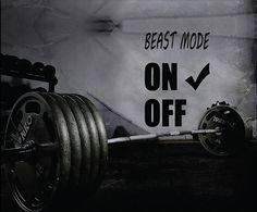Fitness Motivation Home Gym Wall Decal Beast Mode by MaxxGraphixx