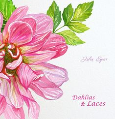 Dahlias & Laces. The set of 8 high quality hand painted watercolor floral Bouquets and Wreaths. You can print these watercolor elements to create your project. They are perfect for: Scrapbooking, Posters, Invitations, Cards, Wedding theme, Paper Crafting, DIY projects and more.. Separate