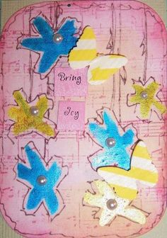 Noeline's  ATC for the April 2013 Crafty Girls Challenge - BFF's - What does friendship mean to you?