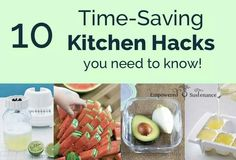 10 time saving kitchen hscks