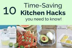 10 time saving kitchen hscks