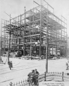 Seelbachs Hotel, Louisville, Kentucky, during construction,1905. :: R. G. Potter Collection