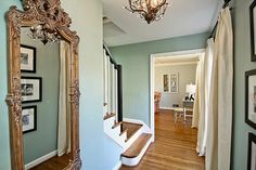 Benjamin Moore Wythe Blue Foyer - traditional - entry - dc metro - Design In A Day