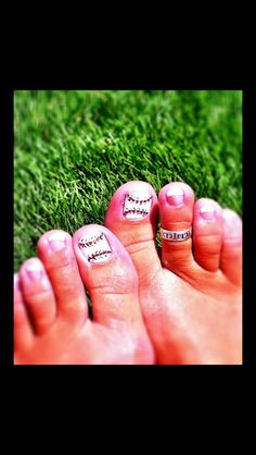 Baseball Toes & Nails ❤ ⚾ | Sports | Pinterest | Unghie dei ...