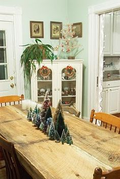 Pretty pretty finds - bottle brush Christmas trees