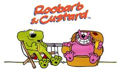 Roobarb and Custard, cult childrens TV cartoon characters #kids #tv #70's