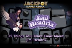 Most famous guitarist, Jimi Hendrix have ever graced this planet with his music. Do you love his music, here are few things you might not know about him!!  Jackpot Mobile Casino collected some interesting about Jimi. Know Here: https://www.jackpotmobilecasino.co.uk/blog/15-things-you-didnt-know-about-jimi-hendrix/