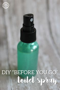 "Your Own ""Before You Go"" Toilet Spray Easily make your own before you go toilet spray!Easily make your own before you go toilet spray! Diy Cleaners, Cleaners Homemade, Household Cleaners, Poop Spray, Baby Popo, Toilet Spray, Cleaning Recipes, Cleaning Tips, Cleaning Supplies"