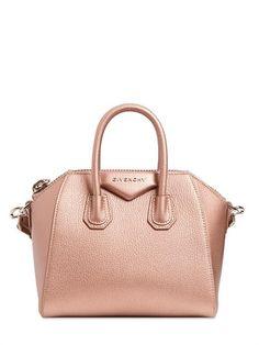 9cca1e15a714 GIVENCHY Mini Antigona Metallic Leather Bag