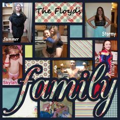 Template: LissyKay Designs - My {Family} Story  Kit: Pixelily Designs - Family Ties Forever