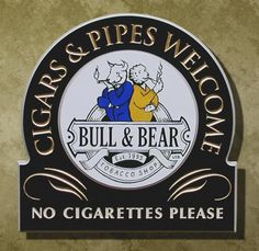 Cigars and Pipes Retail Sign | Danthonia Designs
