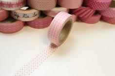 Washi Masking Tape rosa Micordots Mini Punkte von washitapes auf DaWanda.com