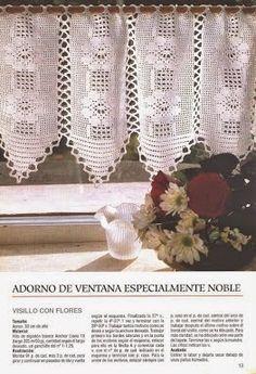 Grace y todo en Crochet: CORTINA DE VENTANA....WINDOW CURTAIN ....