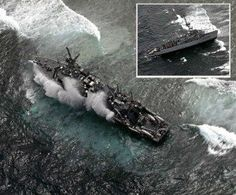 US Navy ship damages Phillipine Coral Reef in Protected area. aerial shot of US Navy minesweeper, the USS Guardian, via AFP Marine Corps Medals, Philippine Star, Us Navy Ships, United States Navy, Palawan, Royal Navy, Color Of Life, Life Drawing, Philippines