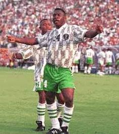 Nigerian forward Daniel Amokachi