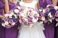 Cream and Purple Wedding Flowers | LDS wedding bouquets in Cream, Purple and Mauve Flowers. ... | Wedding