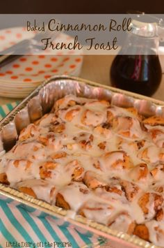 Baked Cinnamon Roll French Toast ~ The kids raved about this breakfast! I raved about it being quick and simple to make too! What's For Breakfast, Breakfast Dishes, Breakfast Recipes, Christmas Breakfast, Sunrise Breakfast, Morning Breakfast, Perfect Breakfast, Christmas Morning, Cinnamon Roll French Toast