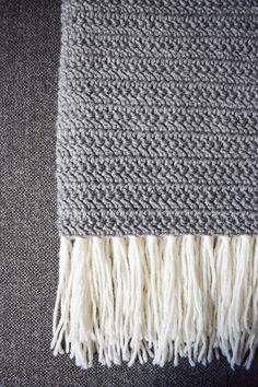 Modern Crochet Blanket - Moon Shadow free pattern - Only As Brave Double Crochet Baby Blanket, Modern Crochet Blanket, Modern Crochet Patterns, Afghan Crochet Patterns, Stitch Patterns, Knitting Patterns, Crochet Blankets, Crochet Ideas, Modern Blankets