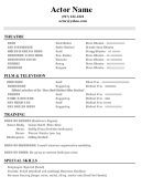 Acting Resume Template, Sample Resume, Resume No Experience, Resume Examples, Career, Templates, Writing, Learning, Theatre