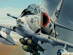 Marine Jet With Missiles and Rockets