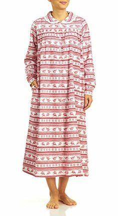 8307650453 Lanz Of Salzburg Women s Long Sleeve Flannel Ballet Nightgown