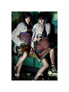 Etro Fall 2011 Campaign | Stella Tennant & Aymeline Valade by Mario Testino --- I love everything about this spread