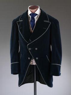 Coat 1873-1875. England. Cotton velveteen, lined... | THE VINTAGE THIMBLE
