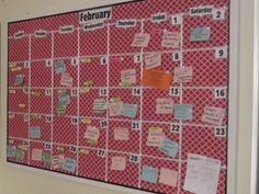 DIY Cork board Calendar