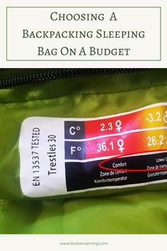 Choosing A Backpacking Sleeping Bag On A Budget — Broke Roaming Backpacking For Beginners, Backpacking Tips, Hiking Gear, Backpacking Sleeping Bag, Types Of Insulation, Car Camper, Thru Hiking, Cold Night, Rv Living