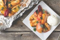 Grilled Stone Fruit with Butter + Cinnamon - offbeat and inspired @offbeatinspired