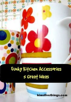 Funky Kitchen Accessories {Bright Colored Kitchen Accessories} November 2019 - How to make a traditional home look more modern with funky kitchen accessories. Ways to update your - Purple Kitchen Accessories, Living Room Accessories, Home Decor Accessories, Easy Home Decor, Home Decor Bedroom, Cheap Home Decor, Decor Room, Funky Kitchen, 18th Birthday Party
