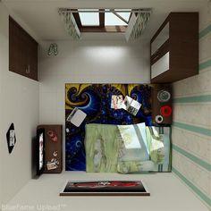 ideas for small bath room decorating kids Diy Home Decor Bedroom, Small Room Bedroom, Teen Bedroom Inspiration, Home Studio Desk, Room Planning, Teen Girl Bedrooms, Home Design Plans, Minimalist Home, Kids Bath