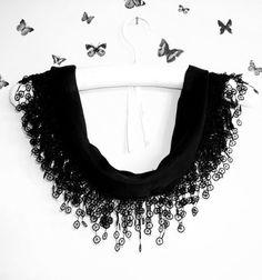 Cotton Scarf Shawl Bandana Headband Black  Wedding by bestbazaar, $13.00